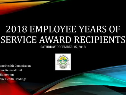 2018 Employee Years of Service Award