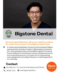 We are excited to welcome Dr. Jordon Poon to be part of the Bigstone Dental Team!