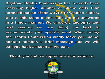 Bigstone Health Commission receiving higher number of phone calls